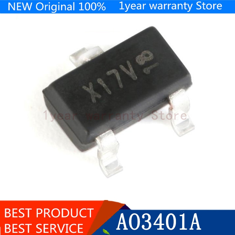 MOSFET SOT-23, nuevo original, 100 Uds. AO3401A AO3401 A19T