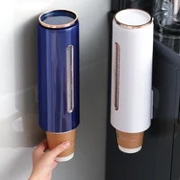 cup dispenser holder wall mounted automatic disposable cup storage rack organizer water dispenser cup holder