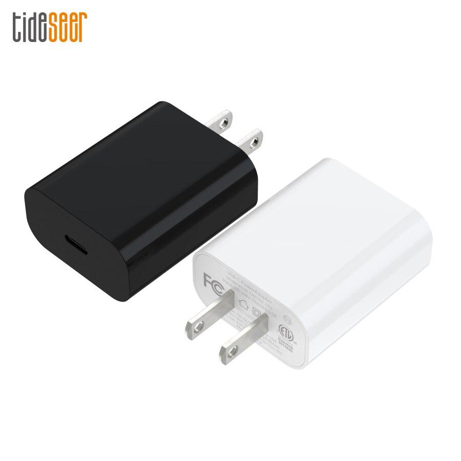 Nos enchufe de carga rápida 3,0 18W USB-C adaptador de corriente rápido PD3.0 cargador de pared para iPhone 11 Pro X XS 8 MacBook Pro Samsung S9 50pcs
