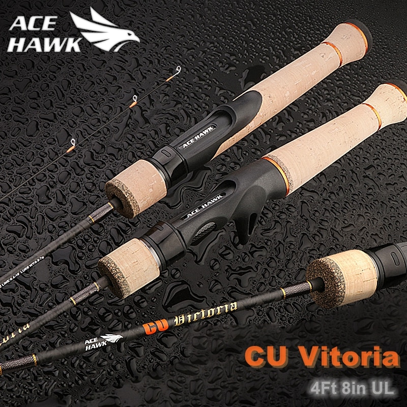Ace Hawk, nueva caña de pescar BFS Stream, caña giratoria ultraliviana de acción rápida, caña de pescar para trucha en jungla, aparejos de pesca UL