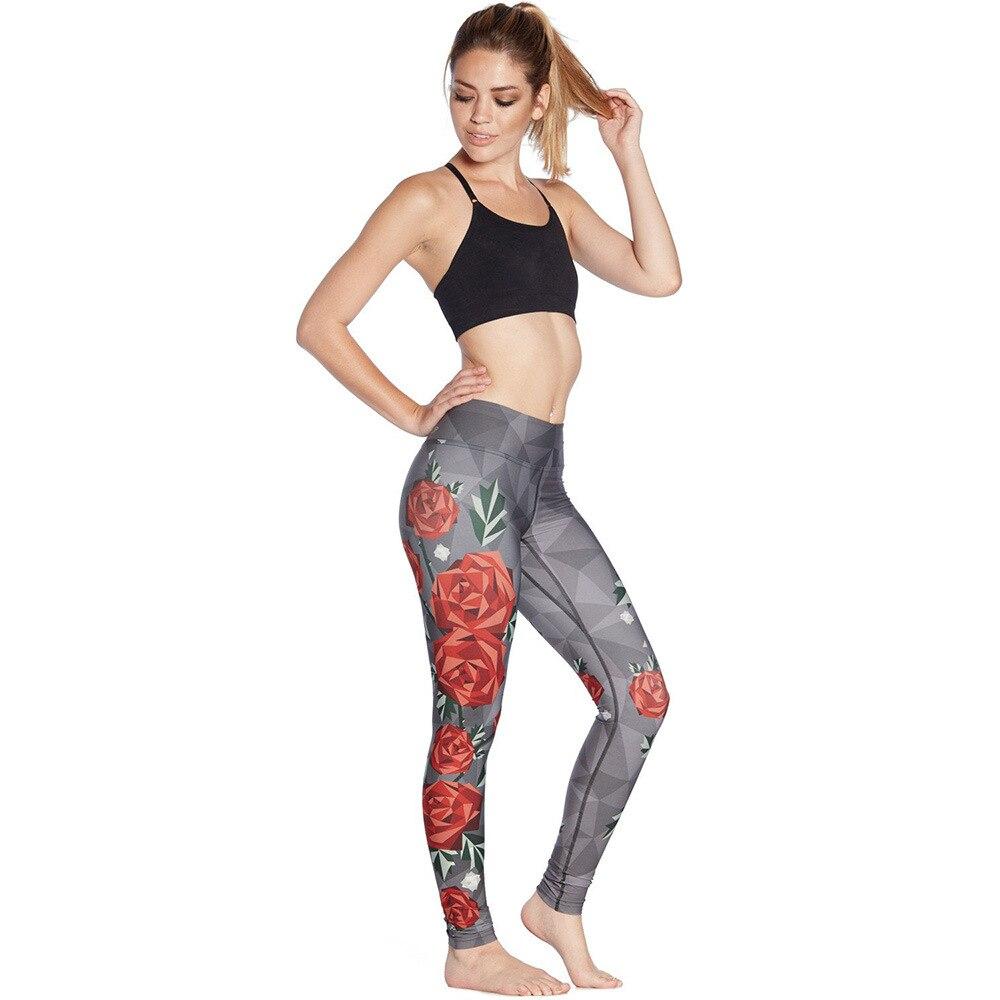 2019 impressão rosa mostra nádegas finas respirável ar super elástico e secagem rápida de nove pontos calças femininas leggings