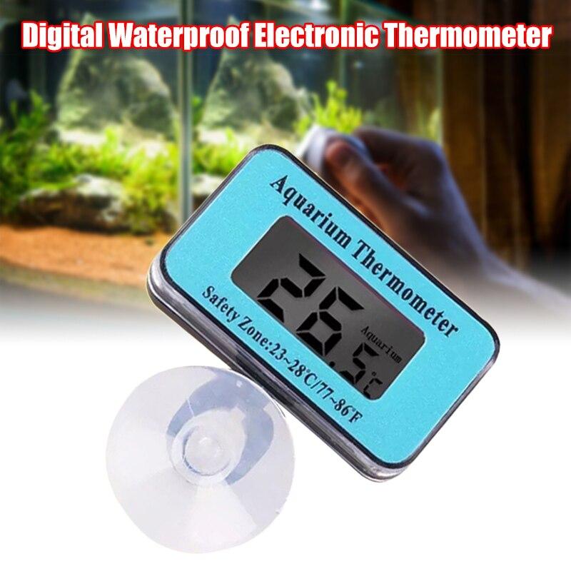 Termómetro de Acuario Digital LED, temperatura de Terrario de Tanque De Agua...