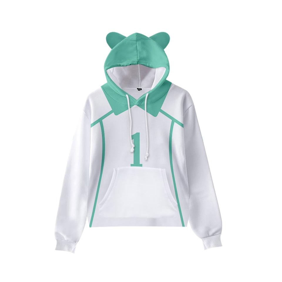 3 a 16 anos de idade orelhas de gato com capuz anime haikyuu camisola uniforme de voleibol/shoyo hinata/oikawa tooru/iwaizumi hajime hoodies
