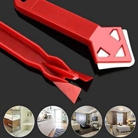2pcs1set durable silicone glass cement kit scraper sealant remover tool caulking sealant finishing grout floor mould removal