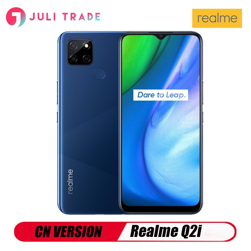 Перейти на Алиэкспресс и купить Версии CN, подлинный Realme Q2i 5G Android смартфон 4 Гб 128 Встроенная память 13MP отпечатков пальцев 5000 мА/ч, Батарея быстрой зарядки 18 Вт GooglePlay