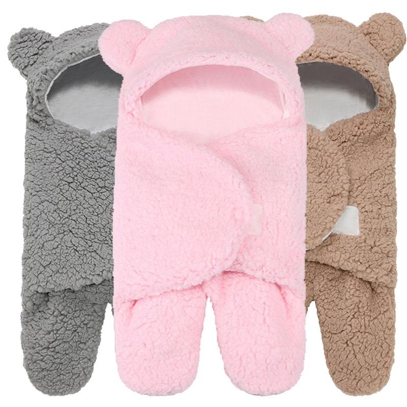 Newborn Sleeping Wrap Infant Boys Girls Receiving Blankets Winter Warm Different Styles Stroller Wrap Toddler Sleeping Bags