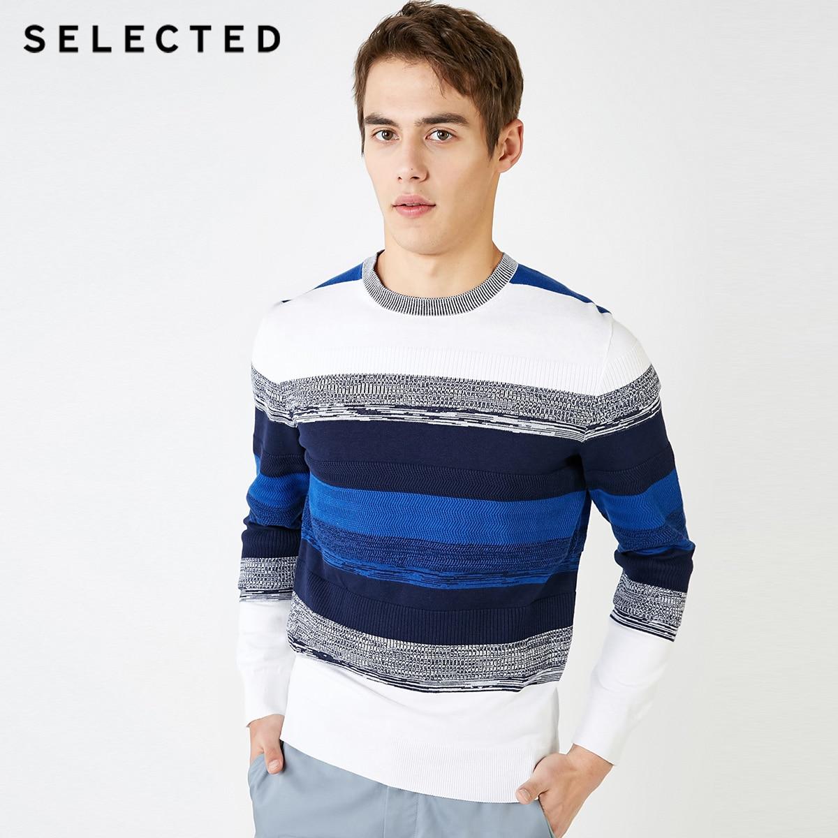 Jersey de punto de diseño de colores surtidos para hombres seleccionados 100% ropa de suéter de algodón C   419124543