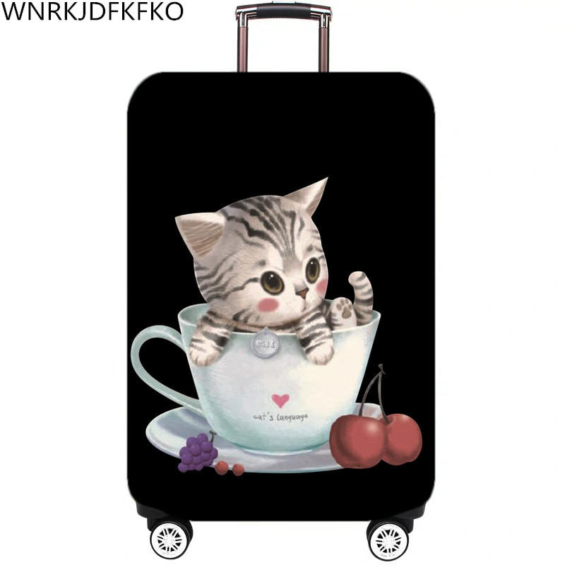 Cartoon Pattern Travel Luggage Suitcase Protective Cover Trolley Luggage Bag Cover Men Women Thick E