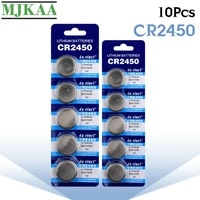 mjkaa 10pcs cr2450 button batteries kcr2450 5029lc lm2450 cell coin lithium battery 3v cr 2450 for watch electronic toy remote