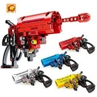 156pcs toy gun popgun signal gun building blocks weapon bricks educational shooting toys for boy gift