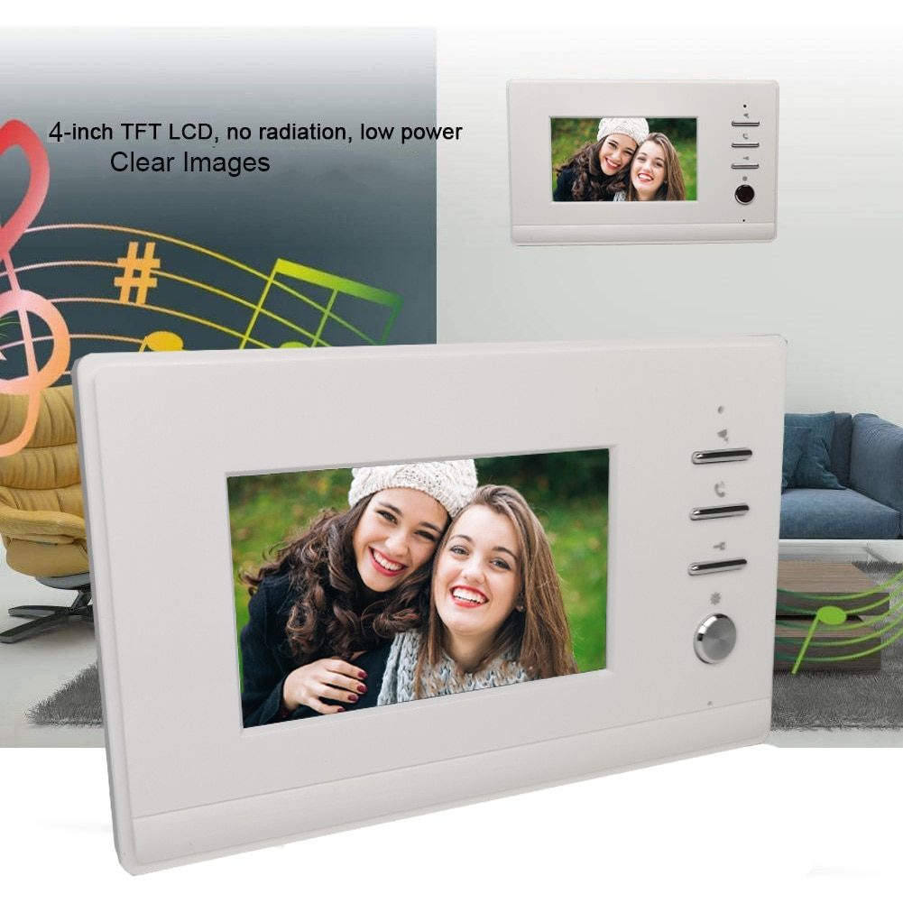 VIDEW Wired Video Doorbell Intercom System RFID Unlock Camera Doorbell with 4.3 Inch Monitor Night Vision Door Entry for Villa enlarge