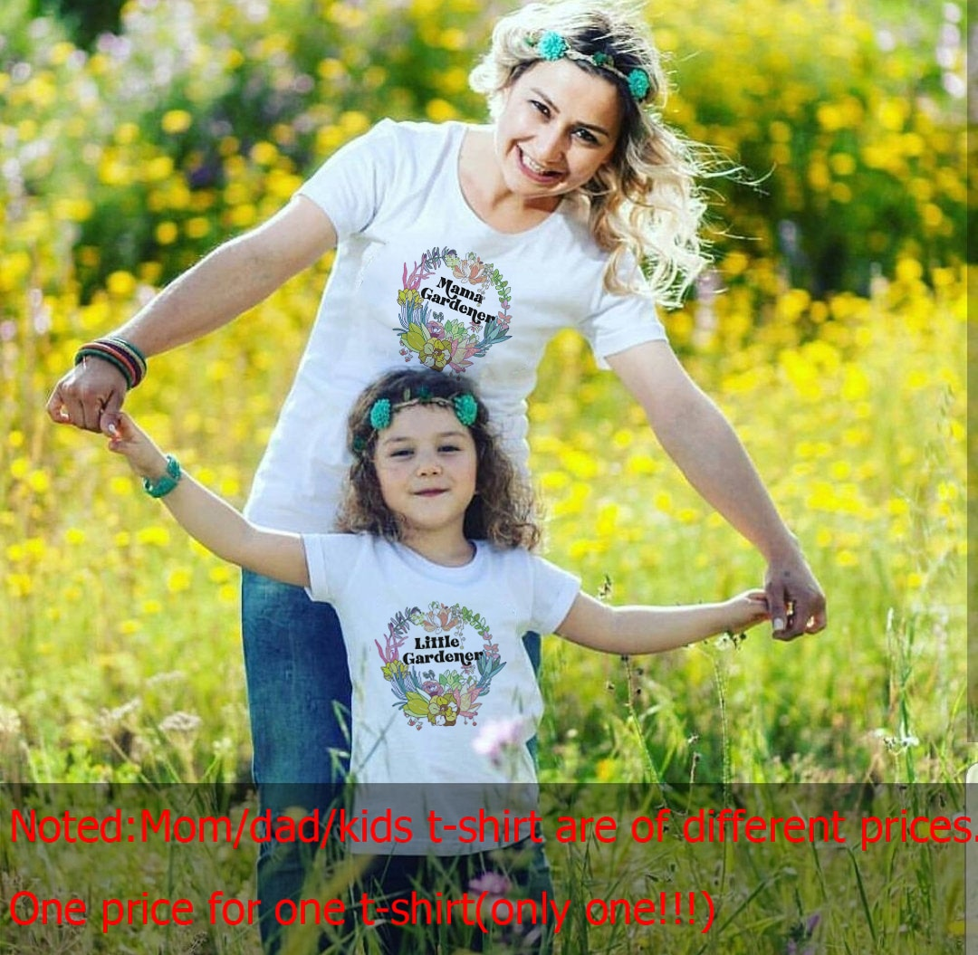 Gardener Mommy and Me T-shirt mama Gardener and Little Gardener Shirts mama Garden shirts Plant kids