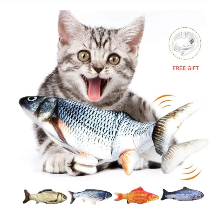 30cm brinquedo eletrônico do gato do animal de estimação brinquedos de peixes de simulação elétrica para o gato do cão mastigando jogando brinquedo de mordidela suprimentos de peixes de floppy dropship