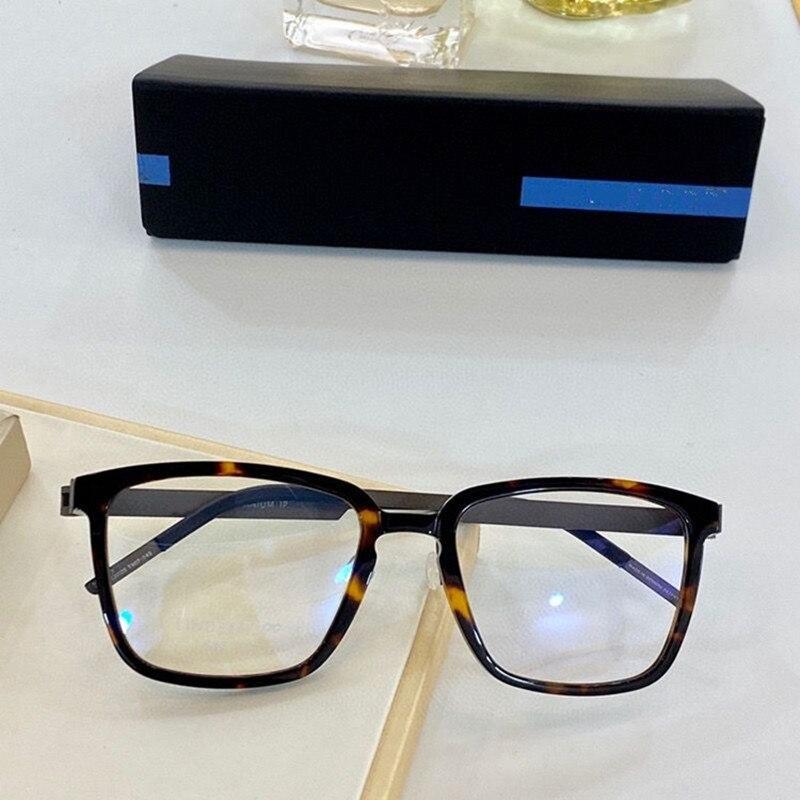 الدنمارك العلامة التجارية تصميم اليدوية التيتانيوم النظارات الإطار الرجال النساء الكورية الأصلي جودة مربع النظارات البصرية
