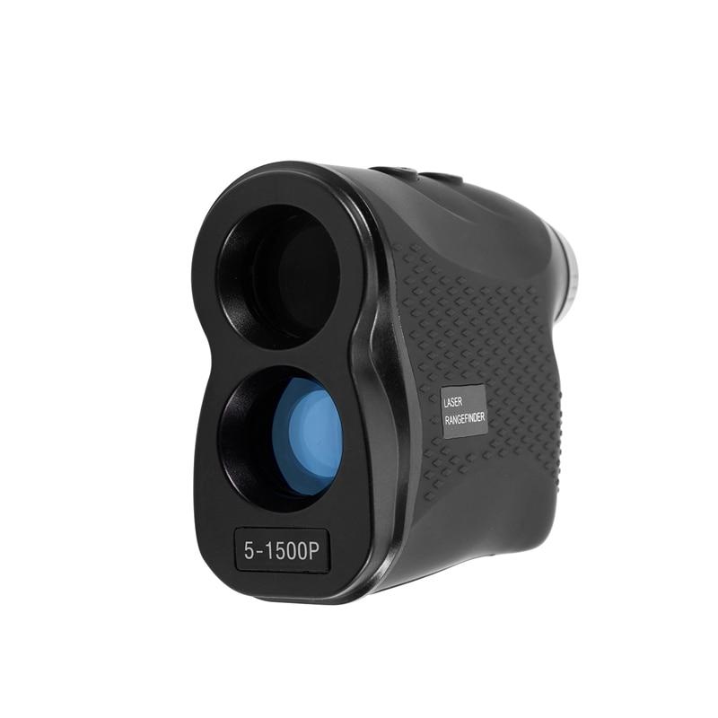 Telémetro Digital de 1500M, telémetro Monocular portátil para caza de Golf, telémetro de velocidad