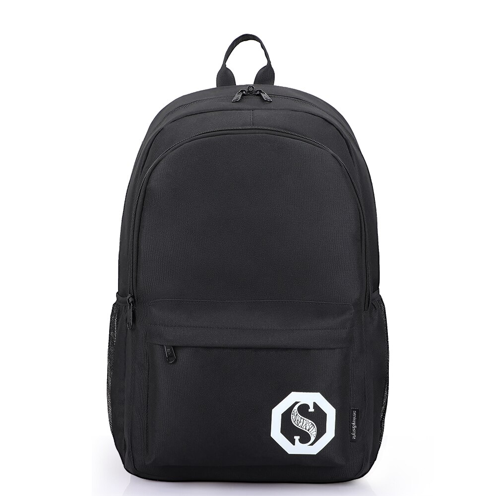 SenkeyStyle Black Backpacks for Men Large Capacity Travel Bags Women Fashoin Backpacking Oxford Wate