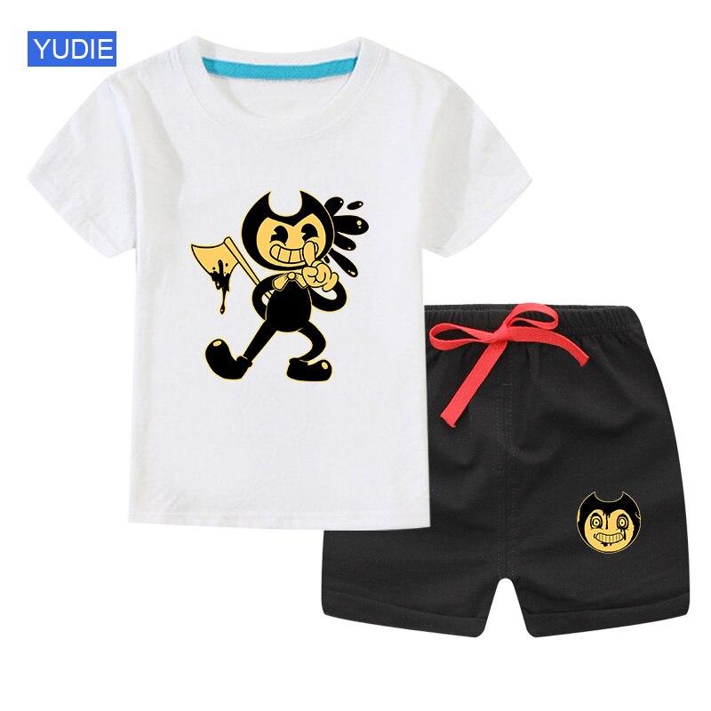 2020 sommer Kinder Kleidung set Kleinkind Baby Jungen Outfits Mädchen Tees Anzüge Kinder Kleidung bendy T-shirt + Shorts 2 3 5 6 7 jahre