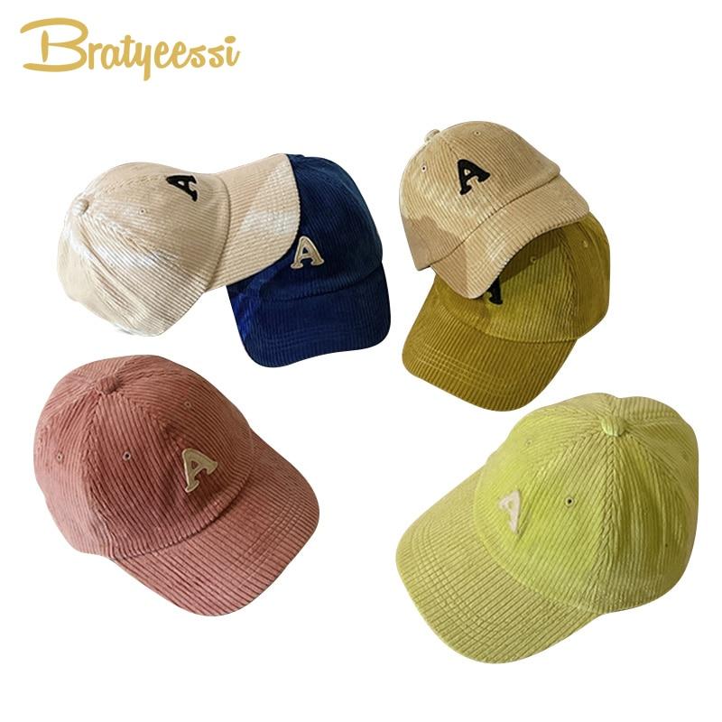 Модные вельветовые детские шапки, шапки, осенне-зимняя бейсболка для детей, шапка для девочек и мальчиков, аксессуары для фото