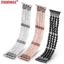 Bracelet en agate fait à la main pour apple watch série 5 4 3 femmes bijoux bracelet bracelet en pierres précieuses pour iWatch ceinture 38mm 42mm 40mm 44mm