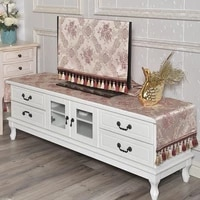 living room tv cabinet cover sideboards red custom mat table runner shoe case cover tablecloth long table household dustproof
