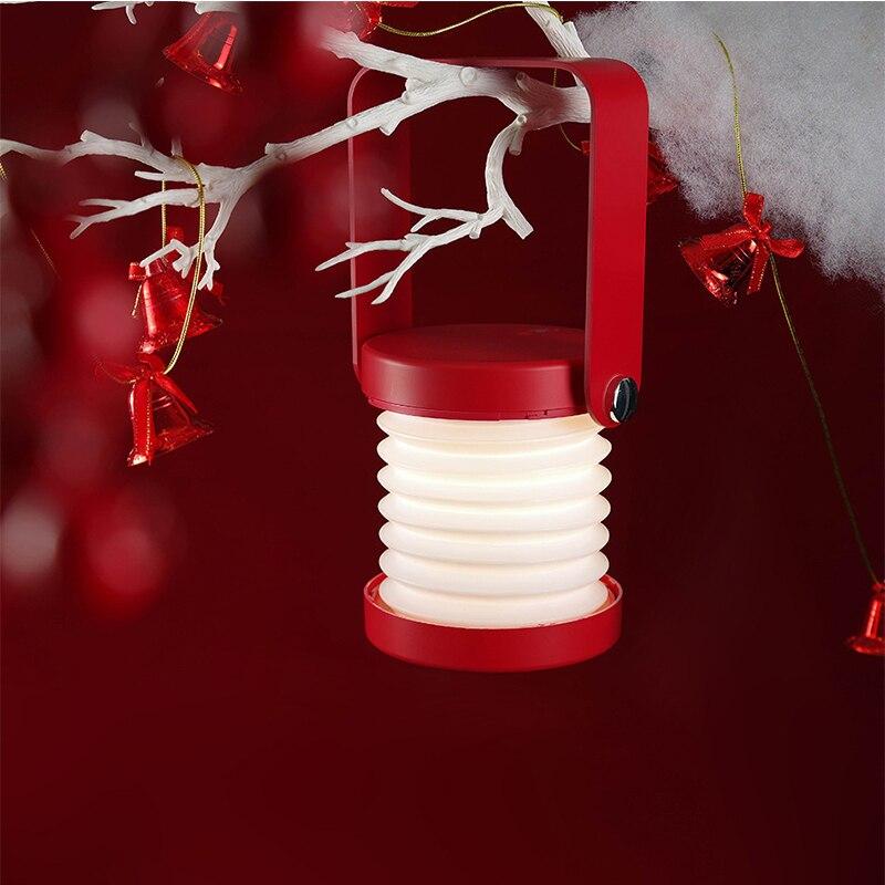 المحمولة القراءة LED مصباح طوي اللمس ليلة ضوء USB قابلة للشحن فانوس نوم جو مصباح الأطفال مهرجان هدية