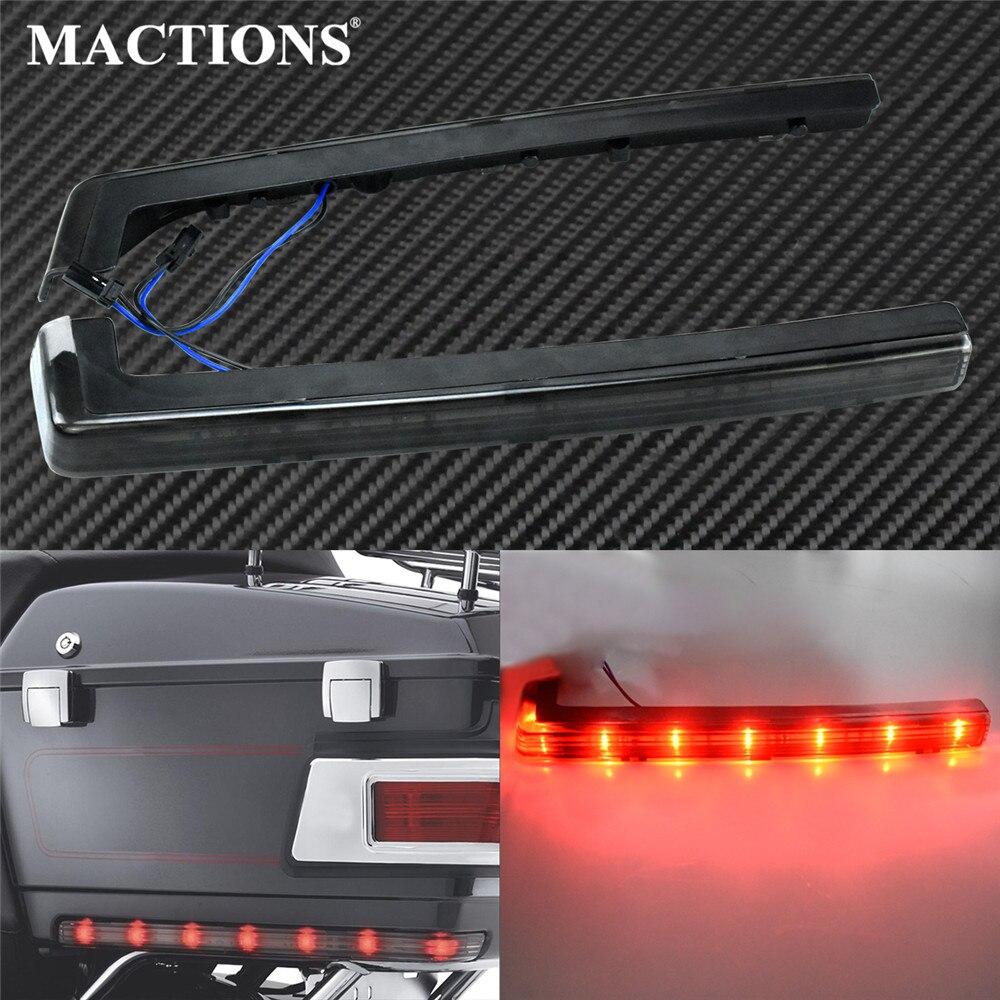 Мотоцикл тур пак пакет Accent боковой маркер панель светодиодный свет дымовая лампа для Harley Touring Street Glide Trike Road King модели