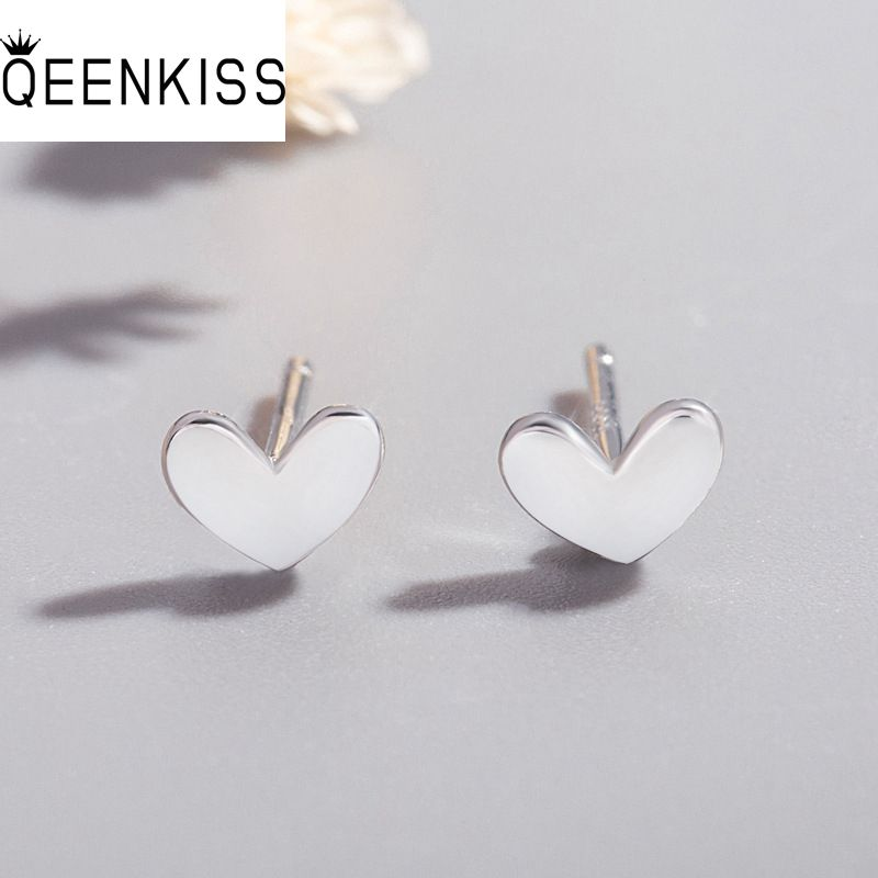 QEENKISS EG708 2021 Fine Jewelry Wholesale Fashion Hot Woman Girl Birthday Wedding Gift Heart 18KT G