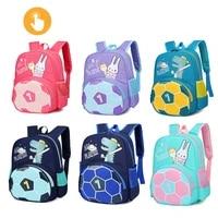 cartoon cute animal football childrens schoolbag student toddler backpack burden reduction boy travel backpack kawaii bag