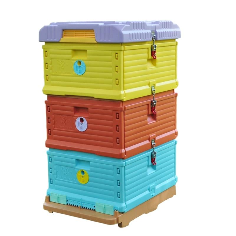 Greenvive-خلية نحل بلاستيكية عازلة 3 طبقات ، صندوق بلاستيك للمبتدئين في تربية النحل