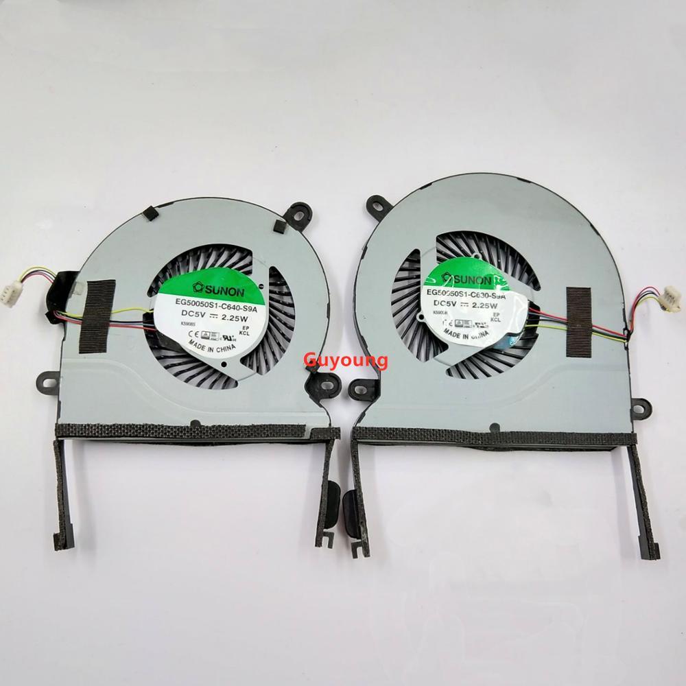 Cooling Fan For ASUS UX501J UX501 UX501JW UX501VW CPU FAN L+R EG50050S1-C630-S9A EG50050S1-C640-S9A