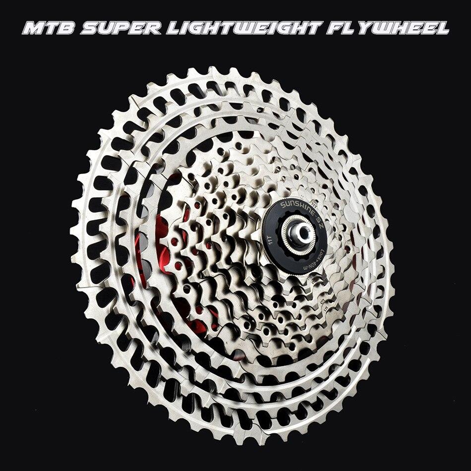 MTB 10s 11s 12s SLR2 кассеты сверхлегкие 10 11 12 Скорость 42/46/50T CNC Freewheel горный велосипед HG система K7 широкий коэффициент звездочки