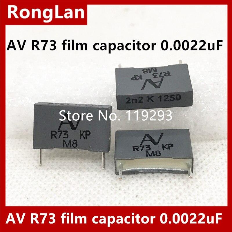 [New Original] Arcotronics AV R73 film capacitor 0.0022uF 2n2 222 2200pf / 1250v, P = 15mm -10PCS
