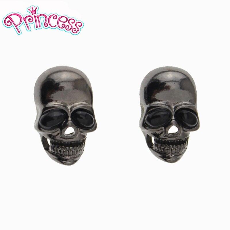 2019 großhandel Lot Pretty Mode Lächeln Schwarz Skeleton Schädel Kopf Ohrringe Stud Für Mädchen Freies Verschiffen Großhandel ACJ
