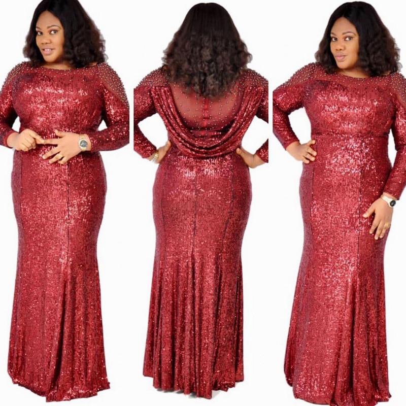 Africanos para Mulheres Lantejoulas Vestidos Vetement Femme Verão Dashiki Boubou Robe Africain Abaya Dubai Longo Kaftan Vestido 2022