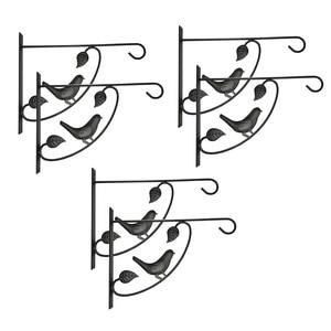 6 Pack Plants Bracket Hanger,Hooks Baskets for Flower Pot Bird Feeder Wind Chimes Outdoor Indoor Wall Lawn Garden