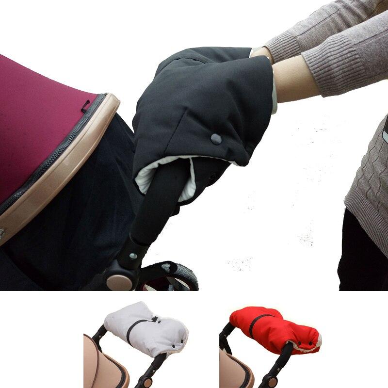 Guantes cálidos para cochecito de invierno, guantes gruesos de terciopelo interior a prueba de viento, cubierta de mano para protección contra el frío en el carrito de bebé, accesorio para cochecito