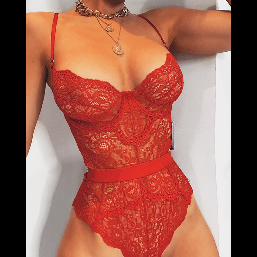 Yimunancy, Body de encaje, bodys Sexy para mujer, bodyes, bodyes ajustados 2020 para mujer