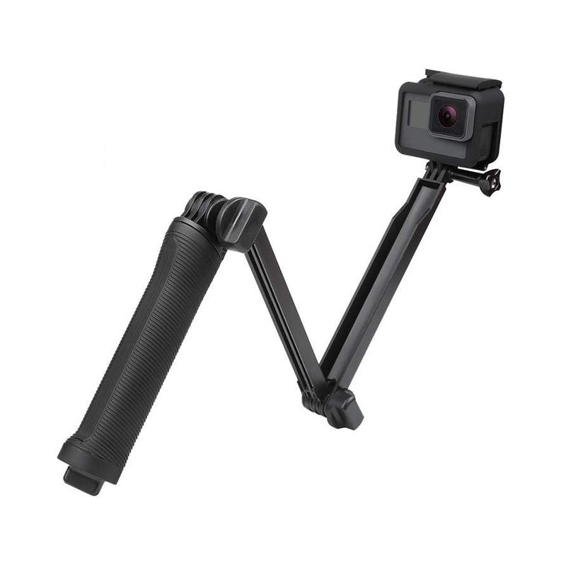 Фото - 3 Way Grip Waterproof Monopod Selfie Stick Tripod Stand for GoPro Hero 9 8 7 6 5 4  for Yi 4K Sjcam Eken for Go Pro Accessory telesin монопод трансформер 3 way с ручкой поплавком для gopro xiaomi sjcam eken