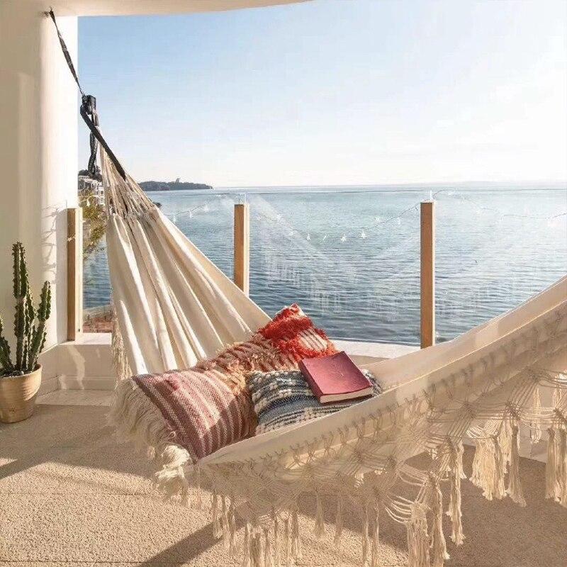 Двойной гамак, подвесная кровать для отдыха на открытом воздухе, путешествий, охоты, кровать, садовые качели, подвесное кресло, подвесной ко...