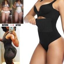 Frauen Hohe Taille Body Shaper Sexy Tanga Unterwäsche Taille Trainer Korsett Compression Bauch Hüfte Steuer Höschen Faja Shapewear