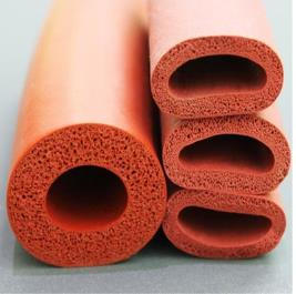 Manguera de silicona de espuma de 35x55mm Tubo de esponja de espuma de tubo de silicona de espuma roja tubo de alta resistencia a la temperatura
