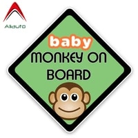 aliauto cartoon car sticker lovely monkey baby on board colored graphic decoration sunscreen waterproof decals vinyl13cm13cm