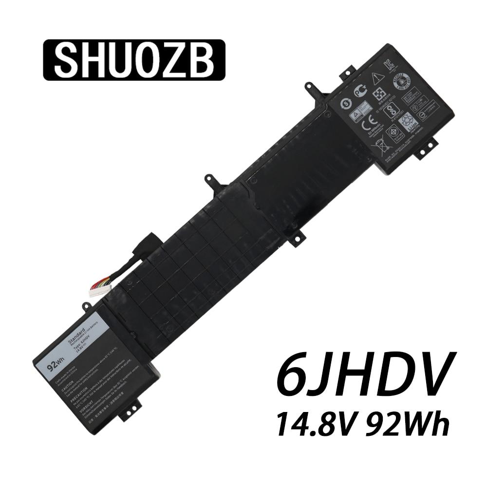 SHUOZB 6JHDV 14.8V 92Wh 6000mAh بطارية كمبيوتر محمول لديل من Alienware جديد YKWXX17 5046J R2 R3 P43F سلسلة دفتر البطارية