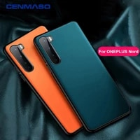 for oneplus 9 case cenmaso original luxury leather full protection soft back cover for one plus nord one plus 9 8 7 7t pro case