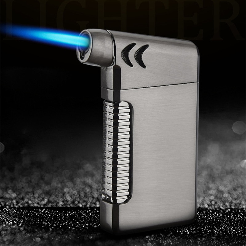 New Compact Butane Jet Lighter Torch Turbo Lighter Fire Windproof Spray Gun Metal Pipe Cigar Lighter