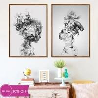 Affiches de peinture en toile pour decoration de noel  tableau dart mural imprime en noir et blanc pour fille  pour salon  decoration de maison
