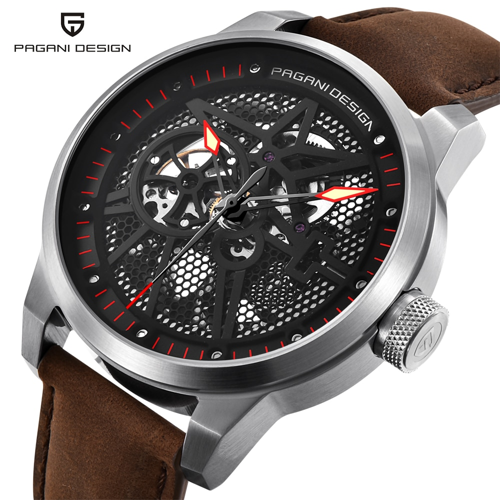 Luxury Brand PAGANI DESIGN Leather Tourbillon Watch Men Automatic Wristwatch Fashion Men Mechanical Watches Relogio Masculino enlarge
