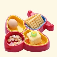 cartoon childrens dinner plate compartment detachable baby food supplement box infant feeding meal dinner dishes tablewarelb812