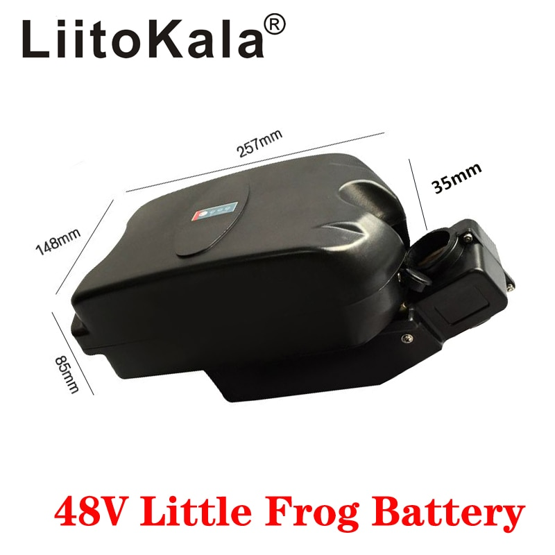 LiitoKala 48V 10Ah 12Ah 15Ah 20Ah little small frog under seat post e-bike ebike battery pack for 250w 350w 500w motor battery
