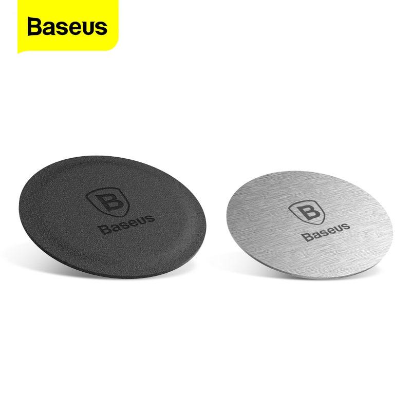 Baseus Car Phone Holder Metal Plate Magnetic Disk Car Mount Holder Magnet Metal Leather & Iron Sheet